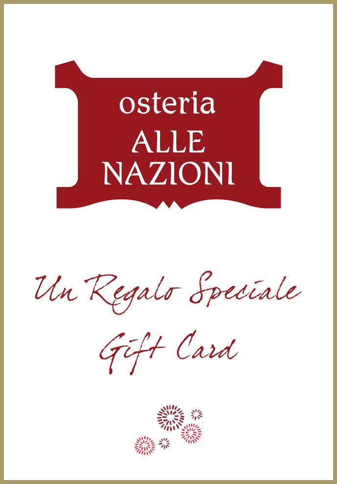 Copertina Menu Gift Card