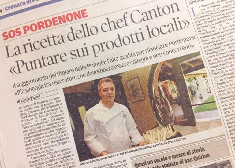 Immagine Intervista ad Andrea Canton | Messaggero Veneto