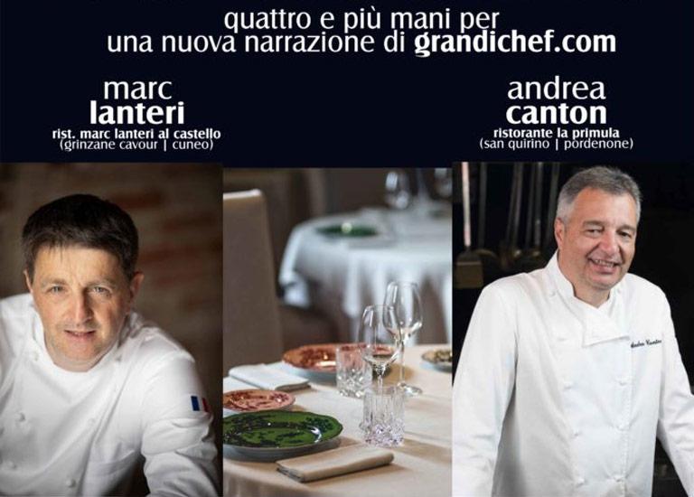 Immagine ''i cibi raccontano...'' a Grinzane Cavour con gli Chef stellati Marc LANTERI e Andrea CANTON