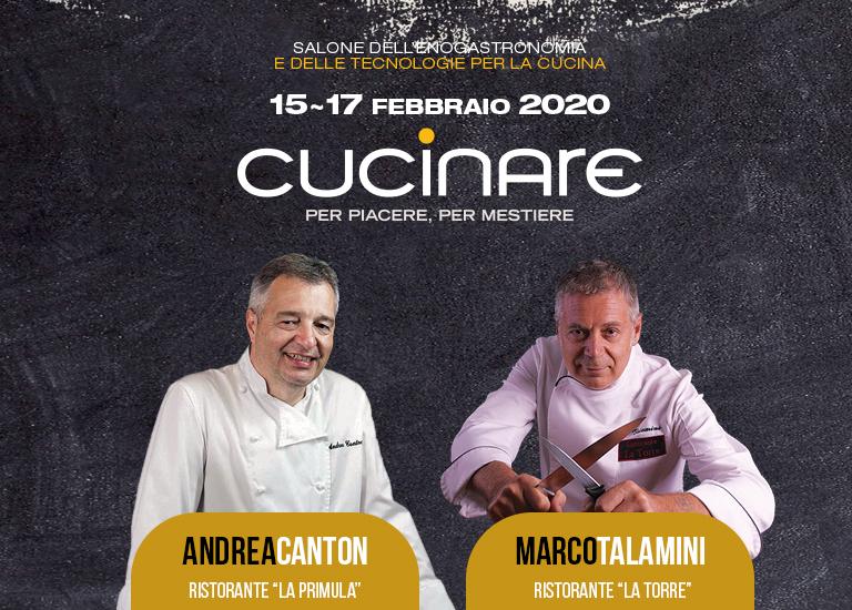 Show Cooking a 4 mani: Chef Andrea Canton e Marco Talamini