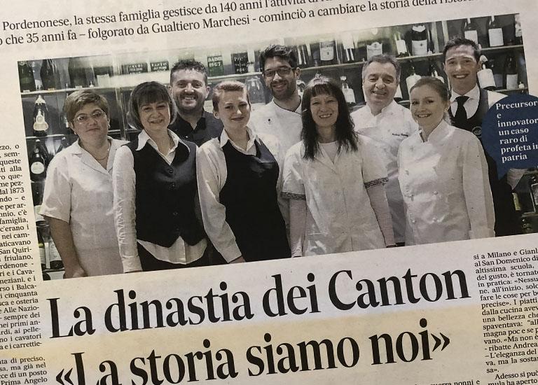 Immagine Press La dinastiadei Canton, 140 anni di attivita' nella ristorazione