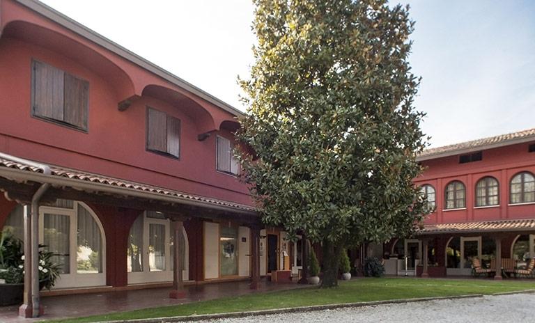 Giardino interno Hotel Albergo la Primula
