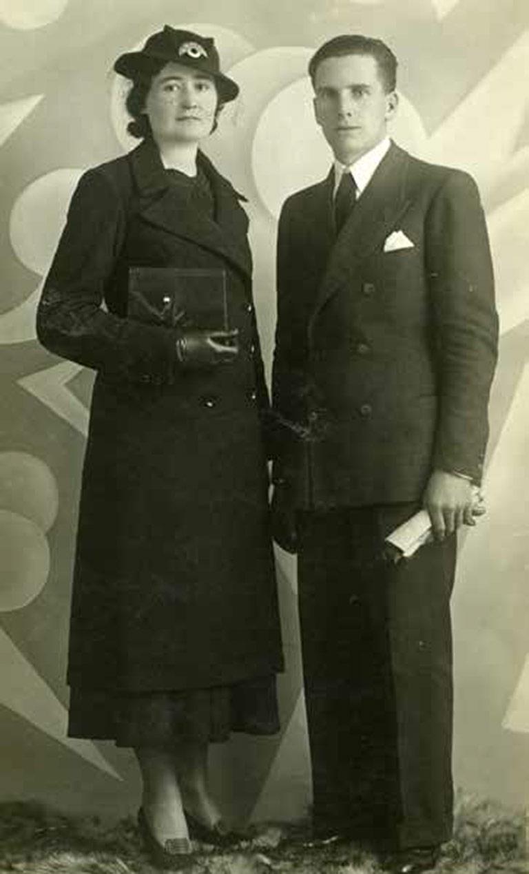 Osvaldo Canton con la moglie